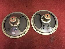 "Pair vintage 60s Alnico magnet 8"" CELESTION speakers (259411)"
