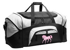 Pink Horse Duffle Gym Bag or Travel Duffel