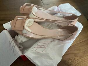 Brand New Roger Vivier Gommette PVC Ballet flats 38.5 Beige