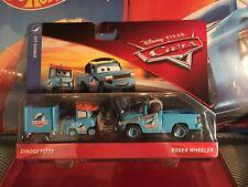 Disney Pixar Cars 2-Pack Dinoco Pitty & Roger Wheeler Dinoco 400 Diecast Cars!