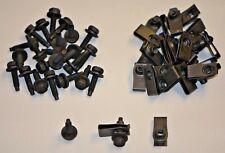 "Valance Bolts & Long U Nuts Black Zinc Coated 1/4-20 x 1"" Hex 7/16 General Use"