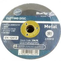 Blue Spot Cutting Discs for Die Grinder/Air Cut-Off Tool - 75mm/3""