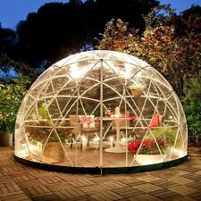 Garden Igloo Dome Canopy Tent Lawn Cover 360 PVC Weatherproof Cover Rust Free