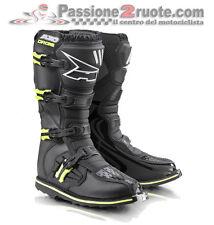 Stivali Axo Drone Limited Edition Nero Giallo Cross Enduro Boots