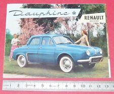 DEPLIANT BROCHURE PUBLICITE REGIE RENAULT DAUPHINE 1956 AUTOMOBILE AUTO