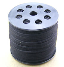10yds 3mm black Suede Leather String Jewelry Making Thread Cords