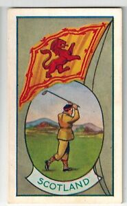 """Allens Sweets Collector Cards """"Sports & Flags"""" (1936) - Scotland / Golf"""