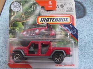 Matchbox 2020 #060/100 2020 Jeep Gladiateur Rouge Casec Neuf Fonte 2020