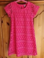 Girls TU Age 6-7 Years Pink Lace Dress