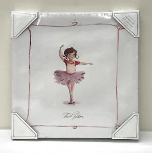 "Pottery Barn KIDS Ballet Ballerina 12 x 12"" Canvas Wall Art~Third Position"