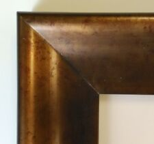 """Picture Frame- 8x10"""" Dark Brown & Bronze Gold Color- Wood/Gesso- GLASS #NC7"""