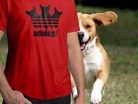 Funny Cute Animal Adidogs Symbol Mens Crew Neck Top Tee Unisex T-Shirt