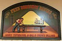 Vintage Pool & Billiards Wooden 3D Sign,Man-cave, Bar, Pool,Fred Sureshot Davies