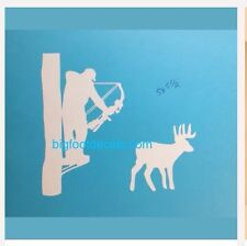 Deer Hunter Decal Archery Bow Hunting Tree Stand Truck Car Window Vinyl Sticker