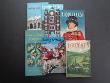 6 Vintage Britain/London travel memorabilia/guides; mid 20th cent. INV2413