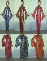 Performance Costume,Belly Dance,Saidi Galabeya,Egyptian Abaya,Oriental Dress T66