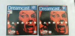 CARRIER SEGA DREAMCAST FRONT COVER AND MANUAL ONLY