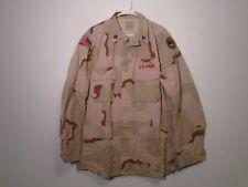 US ARMY DESERT COMBAT UNIFORM DCU COAT 1999 LARGE LONG W PATCHES LA NTL. GD. 9-F
