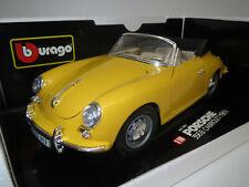 "Bburago  Porsche  356B  Cabriolet  ""1961"" (gelb) 1:18 OVP !"