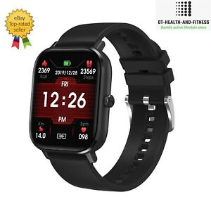 Fitbit Style Sports Smart Watch Heart Rate Blood Pressure Monitor, ECG, Call-AU