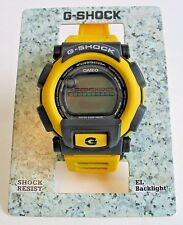Vintage NOS Casio G-Shock Watch DW-003-9VT Yellow Black NIB Wrist Watches
