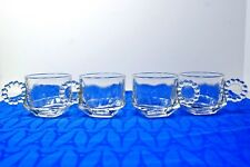 Lot of 4 Hazel Atlas Candlewick / Boopie Orchard Crystal punch cups. 5 oz EXC+ !