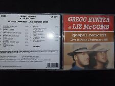 CD GREGG HUNTER & LIZ McCOMB / GOSPEL CONCERT PARIS 1988 / RARE /