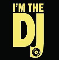 Mens T-Shirt Graphic Tee Funny Music Design Short Sleeve Dj Cotton-Black S-2XL