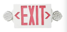 Led Exit Sign Emergency Light Round Head Combo Ul924 Listed Red Or Green