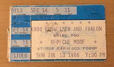 1986 DEPECHE MODE BLACK CELEBRATION TOUR LOS ANGELES CONCERT TICKET STUB 11