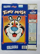 1997 Kelloggs Cereal Frosties Tony Tiger Mask Packet Box