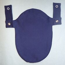 Blue Ostomy Colostomy Pouch Bag Cover 2Pc Convatec & Hollister Snaps on Belt