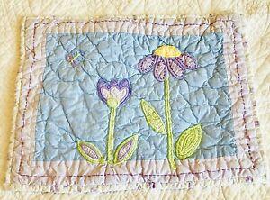Pottery Barn Kids 11x15 Pillow Sham Lavender Flowers Butterfly Nursery Crib EUC