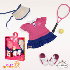 """NEW Our Generation ACED IT TENNIS outfit Set for 18"""" OG DOLLS - OFFICIAL UK"""
