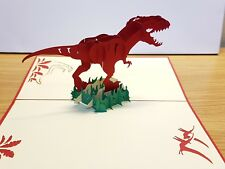 Impressive 3D Pop Up Dinosaur Greeting Card. Ideally for Birthday or any Occasio