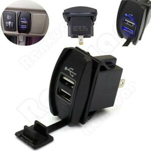 1PC Black 3.1A Dual LED USB Universal Car Auto Power Supply Charger Port Socket