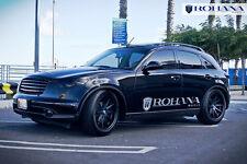 20x9 +35 20x10 +40 Rohana RC10 5x114 Black Wheels Fit Infiniti Fx35 Fx45 AWD Rim