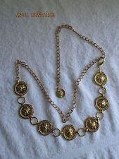 Women's Accessories Vintage Gold Metal Lion's Head Belt