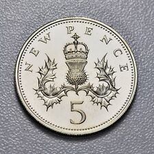 GB NEW FIVE PENCE - 1980 - PROOF ++ PERFECT!! -- FREE S&H USA!! ++[887-04]