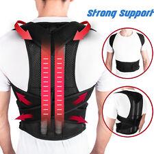 Adjustable Back Posture Shoulder Corrector Support Lumbar Brace Belt Men Women
