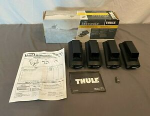 Thule 450 Crossroad Square Crossbar Foot Pack w/5x N106 Lock Cores EXCELLENT