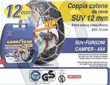 CATENE DA NEVE-250-GOODYEAR 12MM-AUTO-SUV-FURGONI-ANCHE NON CATENABILI 265/70-15