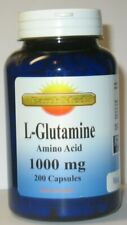 L Glutamine Amino Acid  1000 mg  200 Capsules  Endurance, Strength, Recovery