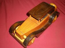 ANTIQUE WOODEN CAR SIGNED HAND CRAFTED BY RAY WILLIAMS