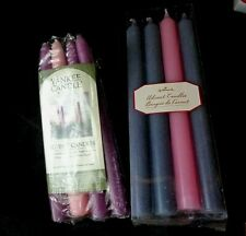 "Candles Taper Purple & Pink Lot 8"" Yankee  10"" Hallmark Eight Tapers"