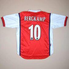 ARSENAL LONDON 1998/1999 HOME FOOTBALL SHIRT JERSEY NIKE #10 BERGKAMP SIZE L