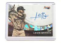 2017 Bowman's Best LEWIS BRINSON Monochrome Autograph Baseball Card SP /25