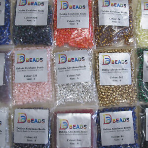 DEBBIE ABRAHAMS BEADS FOR KNITTING/CROCHET PROJECTS SIZE 6 (APPROX 4mm DIAMETER)