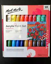 Acrylic Paint Set 18 x 36ml Mont Marte Studio Artist Student Painting Bright