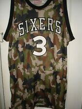 NBA MITCHELL AND & NESS ALLEN IVERSON BASKETBALL JERSEY CAMOUFLAGE SIXERS